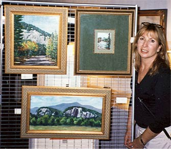 Kim and paintings